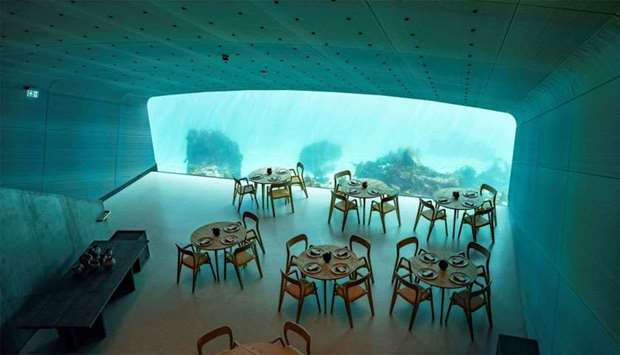 """Under"", a semi-submerged restaurant beneath the waters of the North Atlantic"