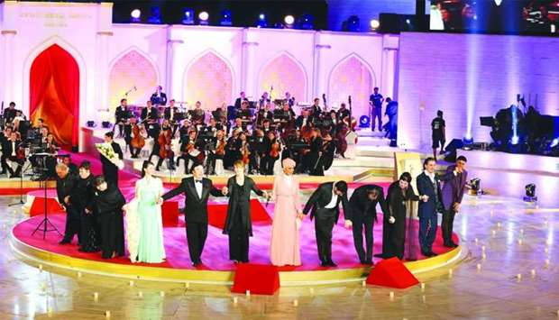 A scene from the fourth edition of Oscar Della Lirica, hosted by Katara in December 2014 as a first