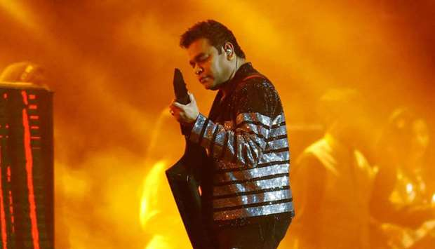 A R Rahman performs in Doha
