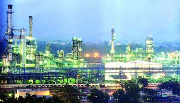 An evening shot of Reliance petrochemicals plant in Jamnagar in Gujarath.