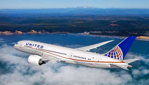 One of the  Boeing 787-900s of United Airlines