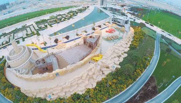 275,000-square-meter Crescent Park opens in Lusail city
