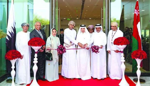 HE al-Baker with al-Hajri, Qatar Airways acting chief commercial officer Ehab Amin and other Omani d