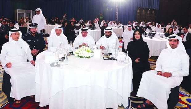 HE the Minister of Transport and Communications, Jassim Seif Ahmed al-Sulaiti, and other dignitaries