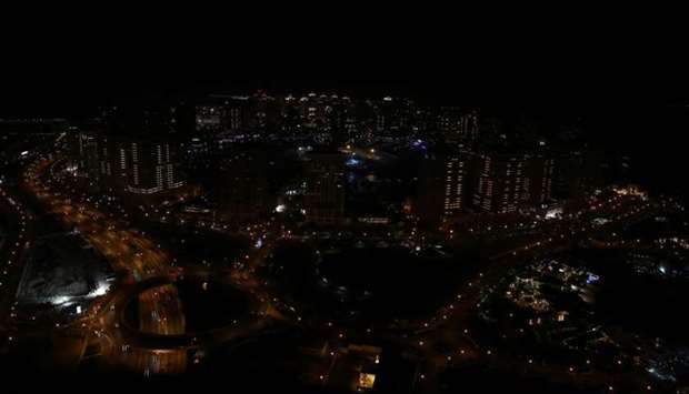 Porto Arabia after the lights were switched off