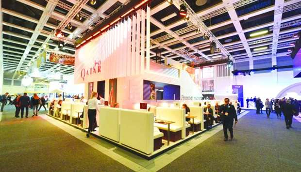 File picture of Qatar's participation in a previous edition of ITB Berlin.