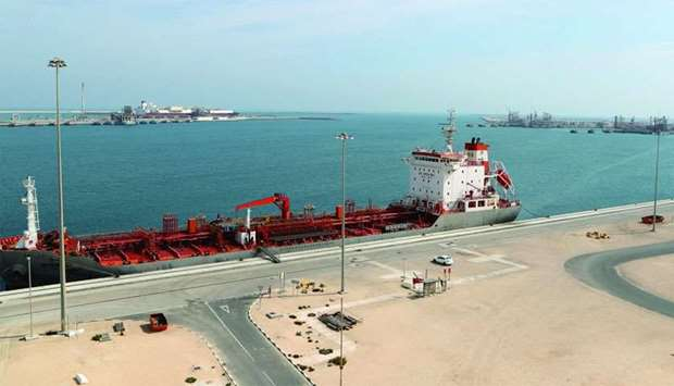 the Ras Laffan Industrial City, Qatar's principal site for production of liquefied natural gas and g