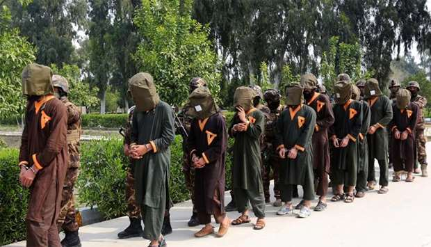 Insurgents arrested by Afghan security forces