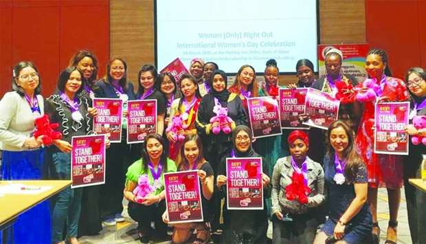 International Women's Day celebration in Doha brought together Women leaders of seven expatriate com
