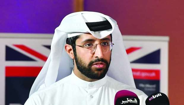 Al-Khulaifi addressing the two-day '3rd SMEs Conference' organised by Qatar Chamber and the British