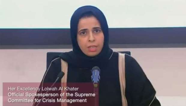HE the Official Spokesperson of the Supreme Committee for Crisis Management Lolwah bint Rashid bin M