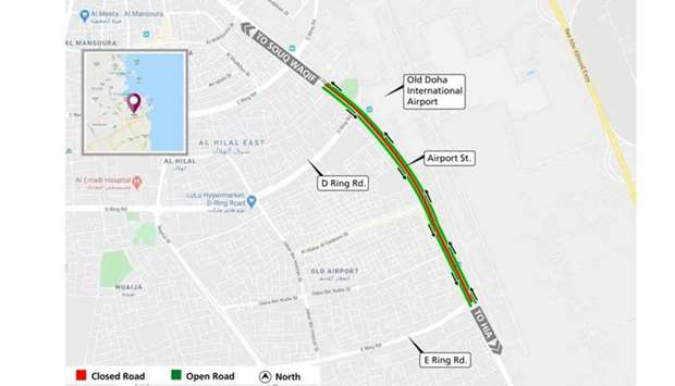 Ashghal announces closure on Airport Street