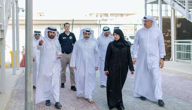 HE the Minister of Public Health Dr Hanan Mohamed al-Kuwari and HE the Minister of Municipality and