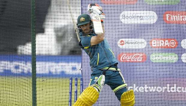 Australia's Glenn Maxwell during a practice session ahead of their 2019 ICC Cricket World Cup match