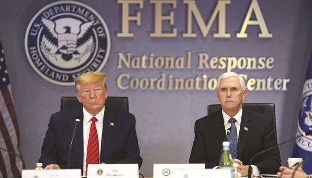 US President Donald Trump (left) and US Vice President Mike Pence
