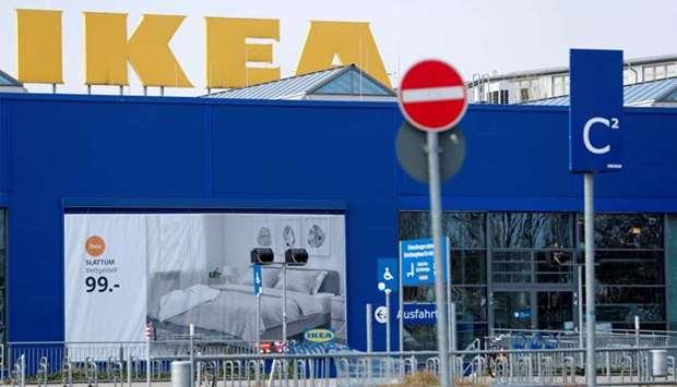 A closed IKEA store is pictured during the spread of the coronavirus disease (COVID-19) in Berlin