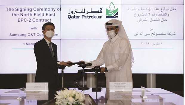The EPC contract was signed today by HE  Saad Sherida Al-Kaabi, the Minister of State for Energy Aff