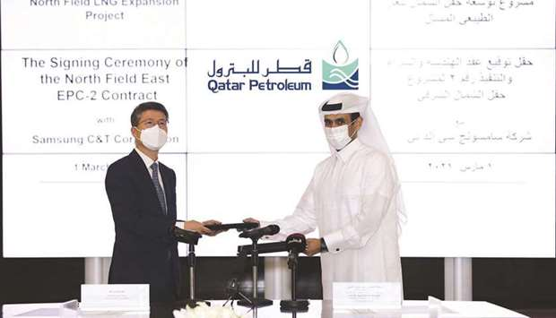 The EPC contract was signed by HE the Minister of State for Energy Affairs Saad Sherida al-Kaabi, al