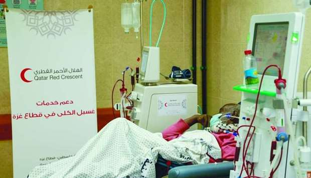 A patient at a dialysis session.