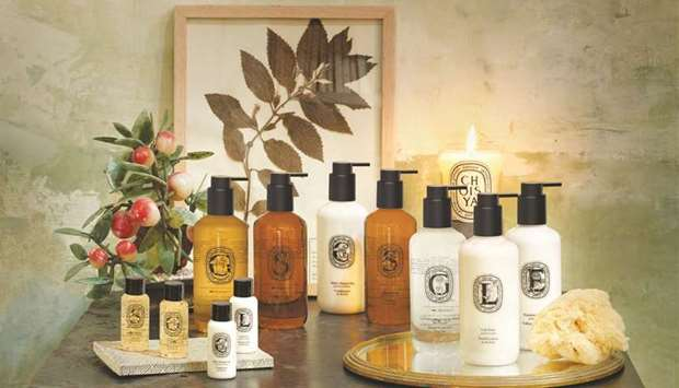 Created by the pioneering 'parfumerie maison diptyque', the new range of toiletries will adorn the f