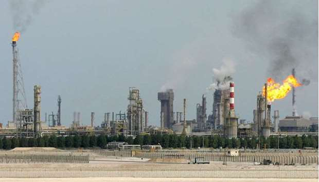 An oil refinery on the outskirts of Doha (file).
