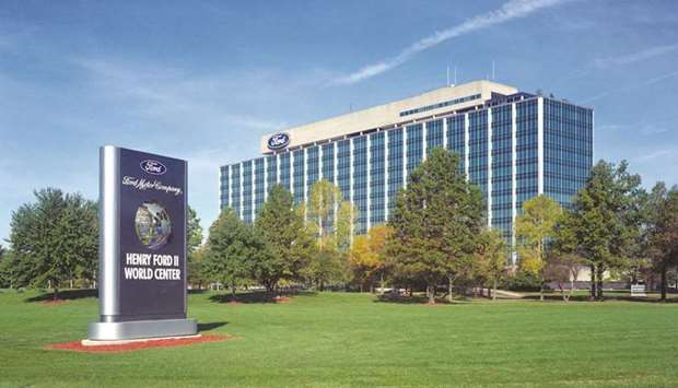 """The Ford headquarters in Dearborn, Michigan. The """"flexible hybrid work model"""" unveiled by Ford last"""
