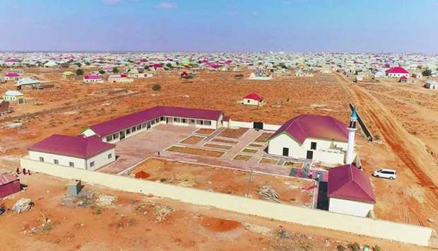 The centre includes a school with nine classrooms, offices, halls and a mosque.