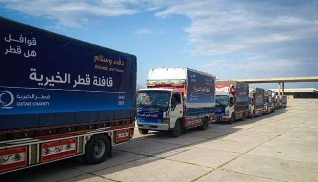 Qatar Charity launches third phase of Qatar Relief Convoys in Lebanon