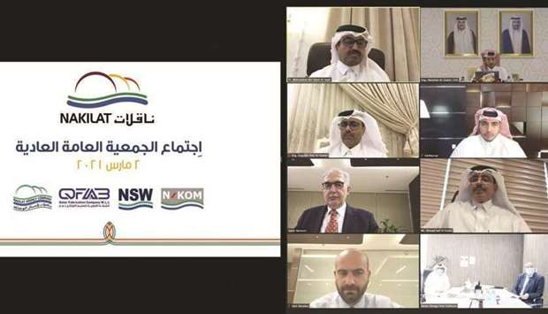Nakilat has held its AGM virtually where shareholders were briefed about its solid business continui