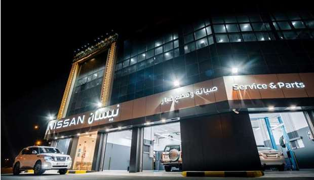The new Nissan 2S facility (Service & Spare Parts) in Umm Slal.