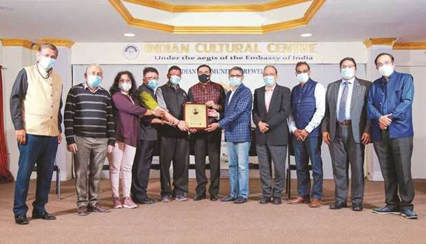 Long-time Qatar resident and prominent Indian expatriate Divakar Poojary was given a farewell by the