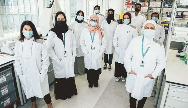 Dr Souhaila al-Khodor (Front, right) along with her team.