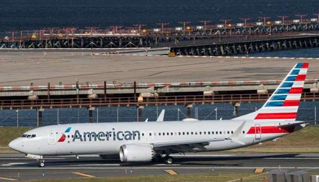 American Airlines flight 718, the first US Boeing 737 MAX commercial flight since regulators lifted
