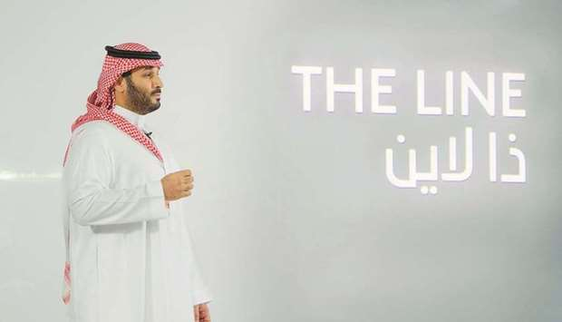 "Saudi Crown Prince Mohamed bin Salman announces a zero-carbon city called ""The Line"" to be built at"