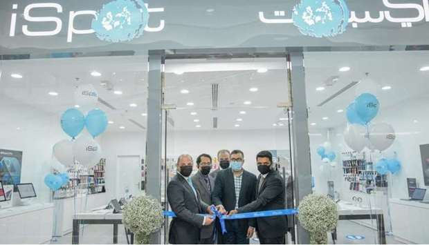 Officials at the inauguration of the store.