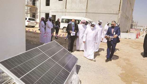 HE the Minister of Transport and Communications Jassim Seif Ahmed al-Sulaiti conducting an inspectio