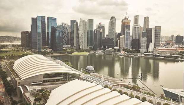 The central business district skyline from the Marina Bay Sands in Singapore. Stocks linked to Jardi