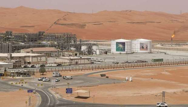 A view of the production facility at Saudi Aramco's Shaybah oilfield in the Empty Quarter (file). Ar