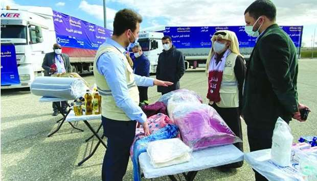 QC field teams continue distributing aid to the internally displaced within Syria as part of its Qat