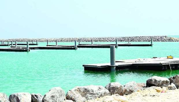 A file picture of mooring berths at Al Wakra port