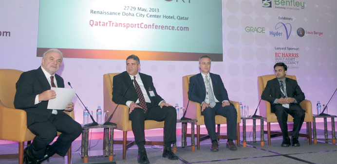Experts taking part at the Qatar Transport Conference.