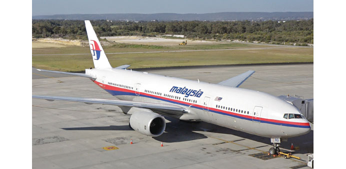 A Malaysia Airlines Boeing 777-200.