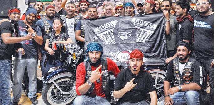 Soul Riders members at a gathering in Doha.
