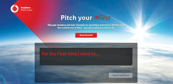 A screen-grab from the Pitch Your First website.