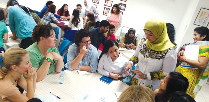 Nurses attending a session of advanced two-day diabetes course.