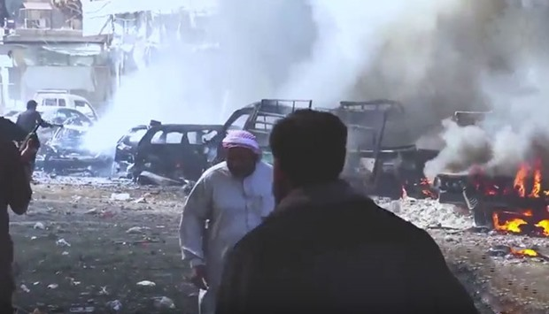 After an airstrike in Raqqa.