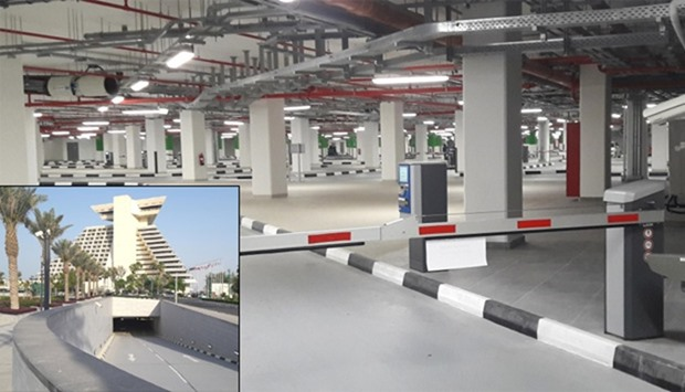 The underground car park features safety and security features such as cctvs. PICTURES: Joey Aguilar