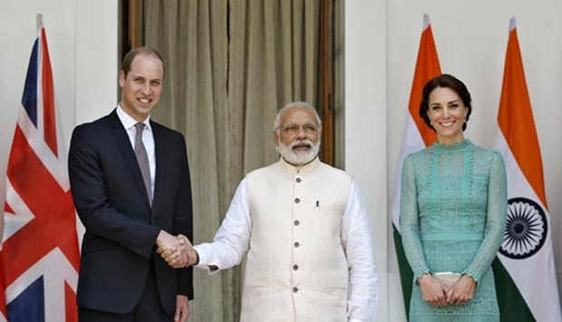 Modi with British royals