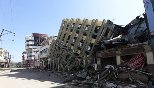 Ecuador quake destruction
