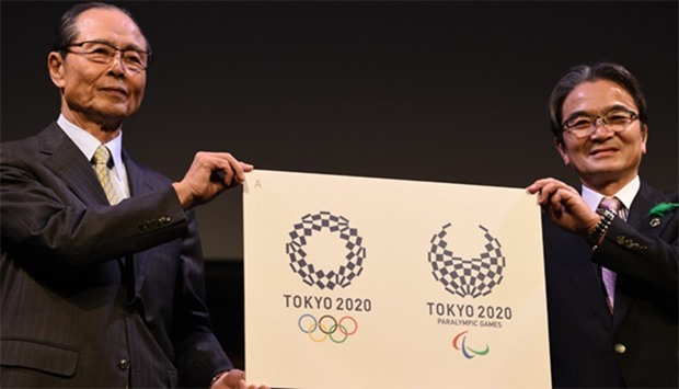 Ryohei Miyata, Tokyo 2020 emblems selection committee chairperson (R) and committee member and forme